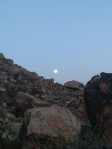 Moon over Red Rocks